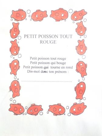 Ecole maternelle desbassyns page 6 for Petit poisson rouge